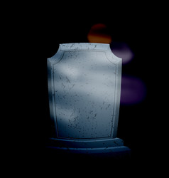 twilight in cemetery at night moon on dark sky vector image