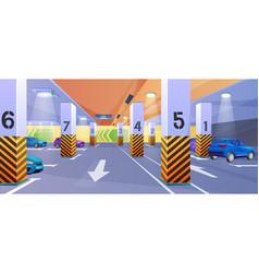 Underground car parking 3d vector