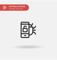unlock simple icon symbol vector image
