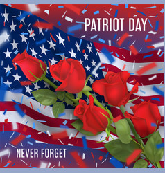 Usa patriot day card vector