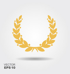 victory wreath icon vector image
