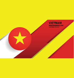 vietnam independence day background vector image