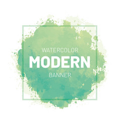 watercolor green banner vector image
