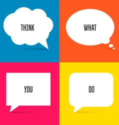 White Speech Bubbles Set 1 vector image