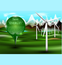wind power plants with pin vector image