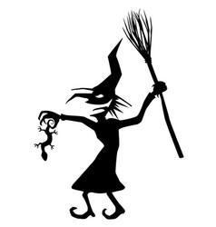 Witch evil newt stencil vector
