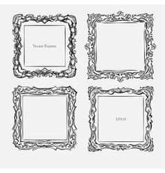 antique square decorative vintage vector image