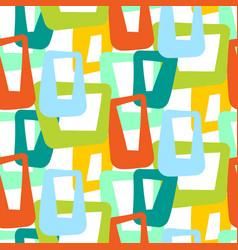 geometric vintage 50s seamless pattern vector image vector image