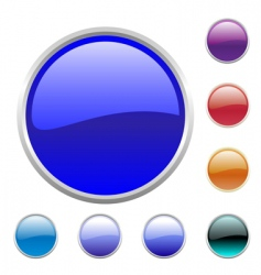 glossy button set vector image vector image