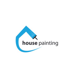 house painting logo template vector image
