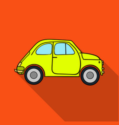 italian retro car from italy icon in flat style vector image