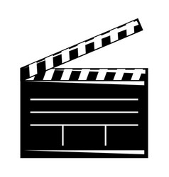 movie clapper board open cinematography concept vector image