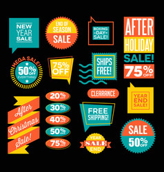 after christmas and end of season sale designs vector image vector image