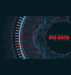 big data circular visualization vector image vector image
