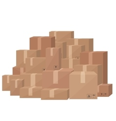 Realistic blank paper craft packages boxes vector image