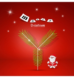 Red Abstract Merry Christmas Background vector image vector image