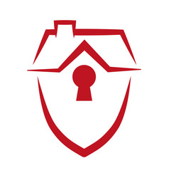 security shield home vector image vector image