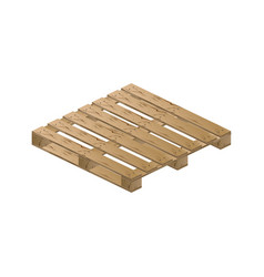 wooden pallet isometric vector image