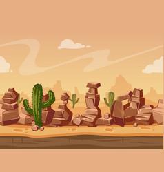 cartoon horizontal seamless landscape with vector image