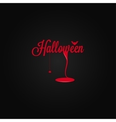 halloween icon lettering blood drop background vector image vector image