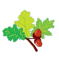 leaves oak vector image vector image