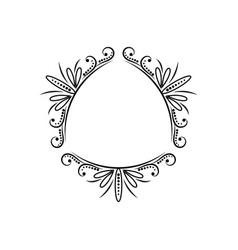 triangular vintage black classic frame vector image vector image