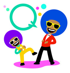 afro laughing vector image vector image