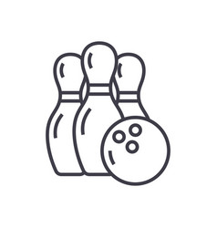 bowling line icon sign on vector image vector image