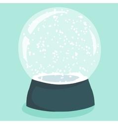 Bright with cute cartoon snow globe vector image
