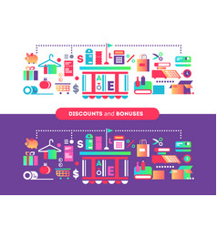 discounts and bonuses vector image