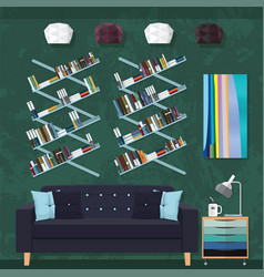 living room decor vector image vector image
