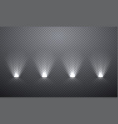 scene illumination from below transparent effects vector image