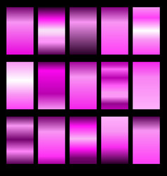 set pink gradients vector image