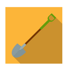 a metal shovel with a plastic handle for working vector image