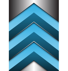 abstract blue arrow 3d on silver direction vector image