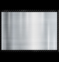 abstract metallic frame on carbon kevlar texture vector image