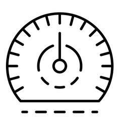auto speedometer icon outline style vector image