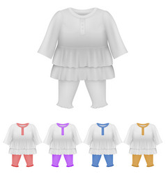 baby bodysuit dress blank template vector image
