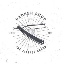 barber shop razor vector image