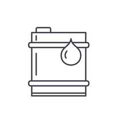 barrel of oil line icon concept barrel of oil vector image