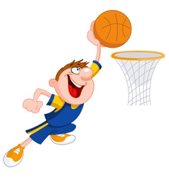 basketball kid vector image