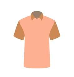 Beautiful pink T-shirt Isolated on White vector image