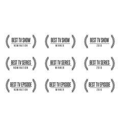 Best tv show series award vector
