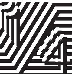 black and white design template symbol vector image