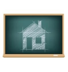 Board house sketch vector