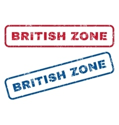 British Zone Rubber Stamps vector