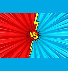 Cartoon comic background fight versus comics vector