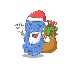 Cartoon design burkholderia bacteria santa vector
