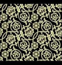 chinese background with flowers vector image