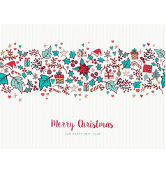 Christmas and new year nature holiday pattern card vector